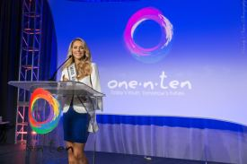 Speaking at One N Ten in front of 3 thousand people